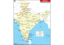 India Map with Tourist Places - Digital File