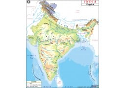 Physical Map of India - Digital File
