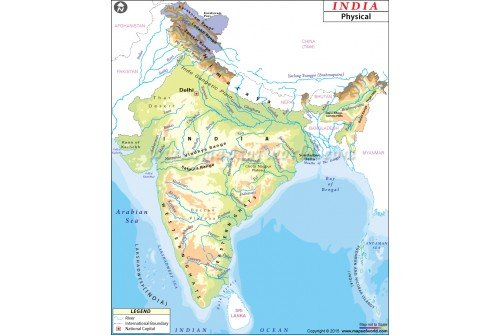 Buy Physical Map of India
