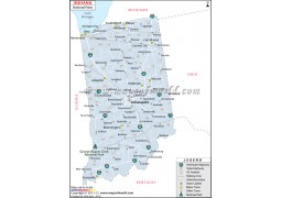 Indiana National Parks Map - Digital File