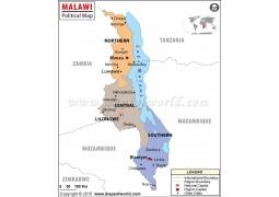 Malawi Political Map - Digital File