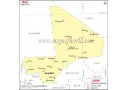 Mali Cities Map - Digital File
