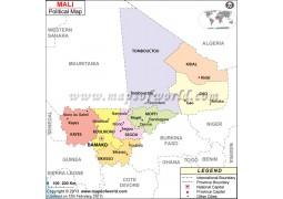 Political Map of Mali - Digital File