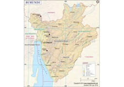 Burundi Map - Digital File