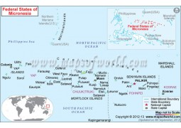 Micronesia Map - Digital File