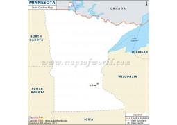 Blank Map of Minnesota - Digital File