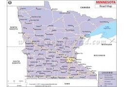 Minnesota Road Map - Digital File