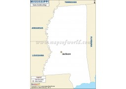 Blank Map of Mississippi