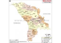 Political Map of Moldova - Digital File