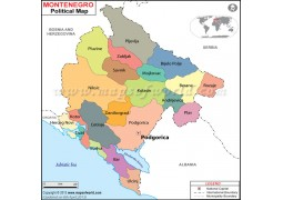 Political Map of Montenegro - Digital File