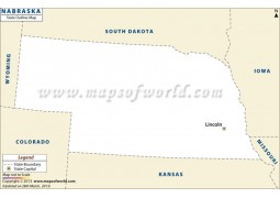 Blank Map of Nebraska - Digital File