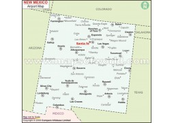 New Mexico Airports Map - Digital File