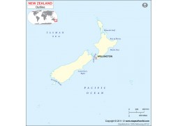 New Zealand Blank Map - Digital File