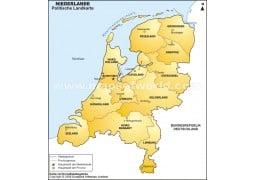 Niederlande Karte - Digital File