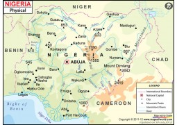 Nigeria Physical Map - Digital File
