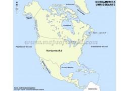 Umrisskarte Nordamerika