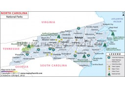North Carolina National Parks Map - Digital File