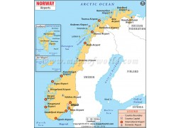 Norway Airports Map