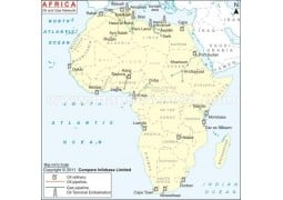 Africa Oil and Gas Network Map - Digital File
