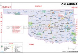 Map of Oklahoma - Digital File