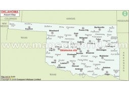 Oklahoma Airports Map - Digital File