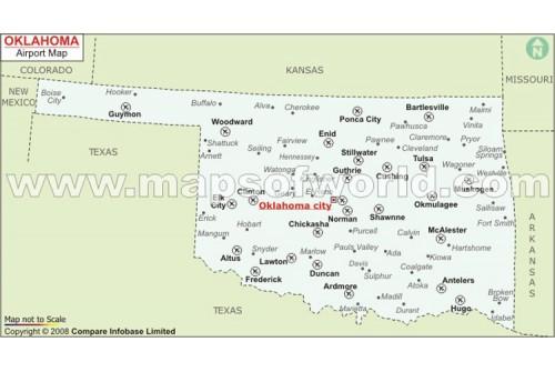 Oklahoma Airports Map