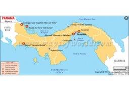 Panama Airports Map