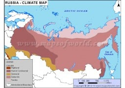 Russia Climate Map - Digital File