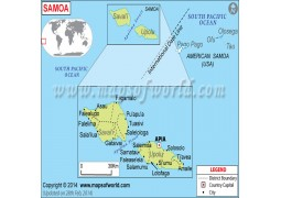 Samoa Map - Digital File