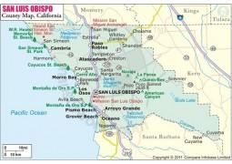 San Luis Obispo County Map
