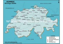 Karte der Schweizer Stadte