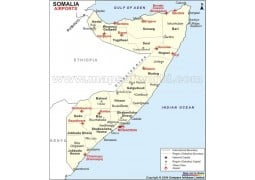 Somalia Airports Map - Digital File