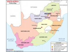 South Africa Political Map  - Digital File