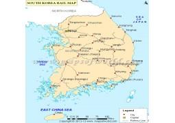 South Korea Train Map - Digital File