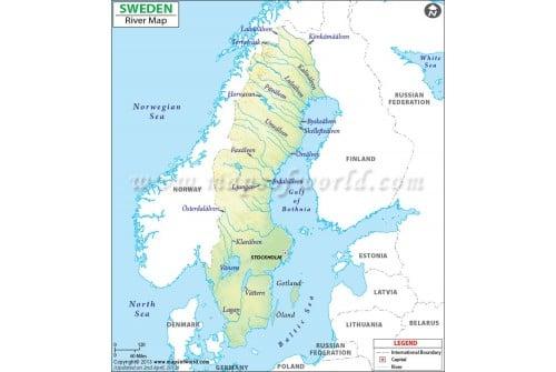 Sweden River Map