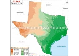 Texas Topographic Map - Digital File