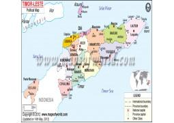 Political Map of Timor-Leste - Digital File