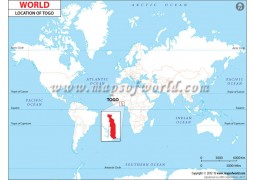 Togo Location Map - Digital File