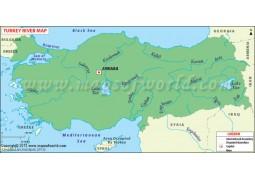 Turkey Rivers Map - Digital File