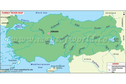 Turkey Rivers Map