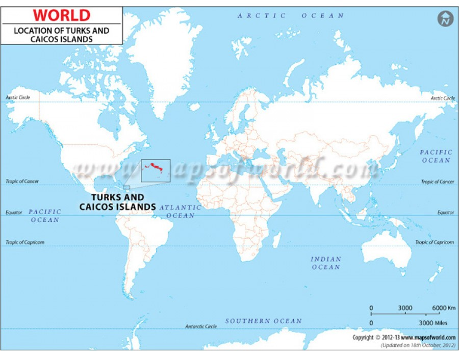 Buy Turks and Caicos Islands Location Map