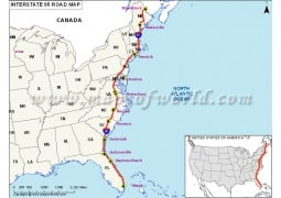 US Interstate 95 Map