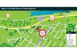 Walt Disney Family Museum Map - Digital File