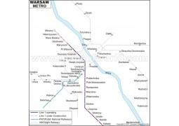 Warsaw Metro Map - Digital File