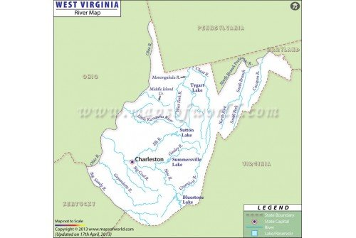 West Virginia River Map