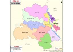 Delhi District Map - Digital File