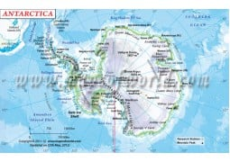 Antarctica Physical Map - Digital File