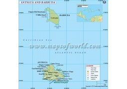 Antigua-Barbuda Country Map - Digital File