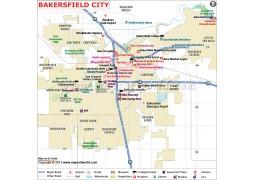 Bakersfield City Map - Digital File