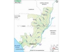Congo River Map - Digital File